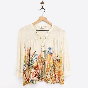 Anthropologie Postmark Cappadocia Henley Shirt XS